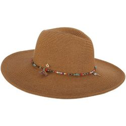 Capelli Womens Tropical Beaded Trim Sun Hat