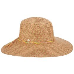Capelli Womens Colorful Braided Trim Straw Hat