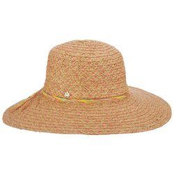 Capelli Womens Colorful Braided Trim Straw Hat