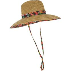 DPC Womens Tropical Floral Lifeguard Sun Hat