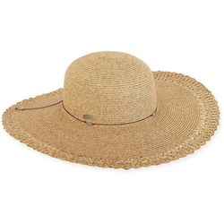 Sun N' Sand Womens Paper Braid  Floppy Sun Hat
