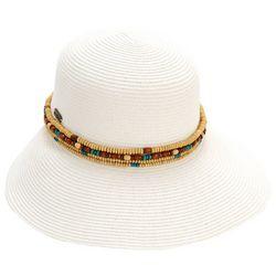 Sun N' Sand Womens Bead Trim Sun Hat
