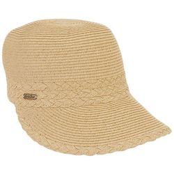 Sun N' Sand Womens Pearl Straw Baseball Hat