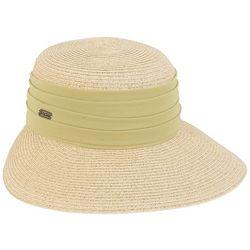 Sun N' Sand Womens Chiffon Trim Sun Hat
