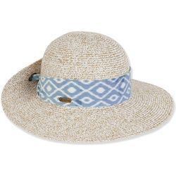 Sun N' Sand Womens Paper Braid Sun Hat