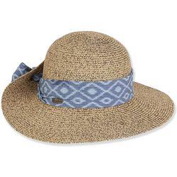Sun N' Sand Womens Paper Braid Sun Hat