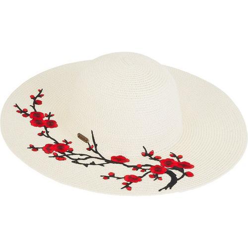 91b4e916 Sun N' Sand Womens Floral Paper Braid Sun Hat | Bealls Florida