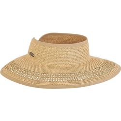 Sun N' Sand Womens Packable Straw Visor