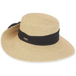 Sun N' Sand Womens Chiffon Scarf Brim Sun Hat