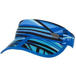 Reel Legends Womens Abstract Striped Visor