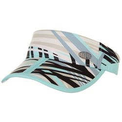 Reel Legends Womens Striped Abstract Visor