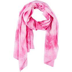 Lulu Womens Tie Dye Print Scarf