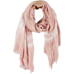 Lulu Womens Tie Dye Lurex Scarf