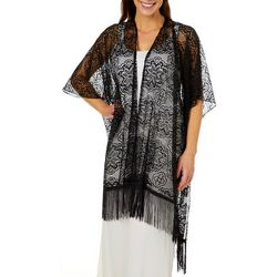 Twig And Arrow Womens Lace Fringe Kimono