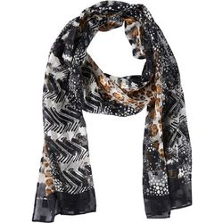 Basha Womens Mix Animal Print Scarf