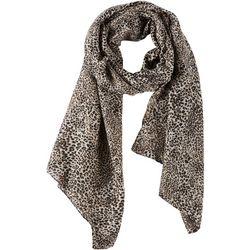 Basha Womens Leopard Print Scarf