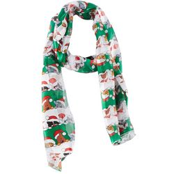 Basha Womens Cats & Dogs Holiday Scarf