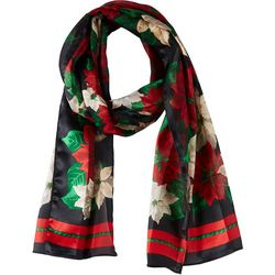 Basha Womens Holiday Poinseitta Scarf
