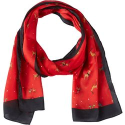 Basha Womens Holiday Reindeer Scarf