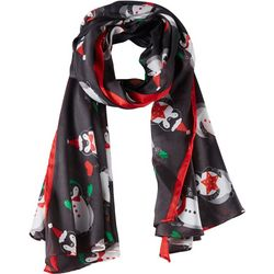 Basha Womens Holiday Penguins Scarf