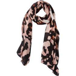 Cejon Accessories Womens Leopard Print Crinkle Wrap