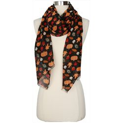 Betseyville Womens Leaves & Lattes Wrap Scarf