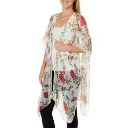 Cejon Accessories Womens Lightweight Floral Sheer Kimono