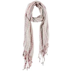 Betseyville Womens Woven Dotted Fringe Scarf