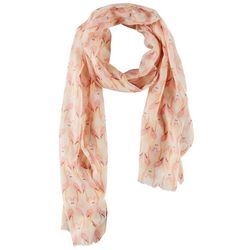 Bay Studio Womens Flamingo Print Scarf