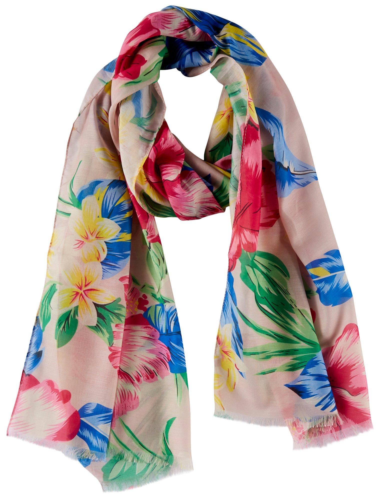 Bay Studio Womens Tropical Floral Print Scarf
