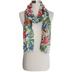 Bay Studio Womens Palm Print Scarf