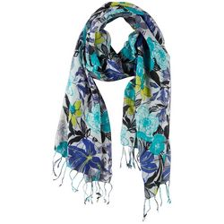 Bay Studio Womens Poppy Floral Fringe Scarf