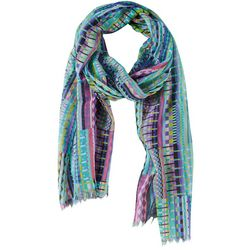 Bay Studio Womens Patchwork Print Scarf