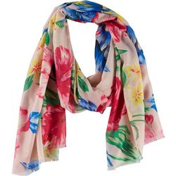 Betsey Johnson Womens Hiatus Floral Scarf