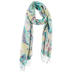 Betseyville Womens Cool Paisley Floral Print Scarf