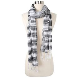 Betseyville Womens Bunched Striped Fringe Scarf
