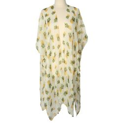 Cejon Accessories Womens Pineapple Print Kimono