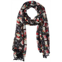 Cejon Accessories Womens Holiday Puppy Print Scarf