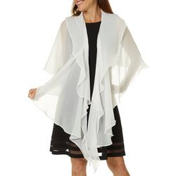 Cejon Accessories Womens Layered Ruffle Wrap