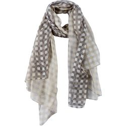 Cejon Accessories Womens Oversized Gingham Wrap