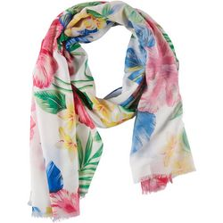 Cejon Accessories Womens Hibiscus Floral Day Wrap