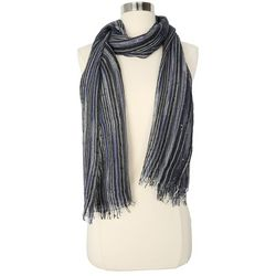 Betseyville Womens Stripe Sequin Scarf