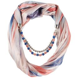 Jessica McClintock Metallic Jewel Beaded Scarf