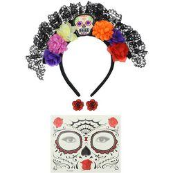 Halloween Day Of The Dead Headband Set