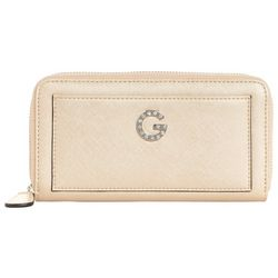 G by Guess Thorne Solid Zip Around Wallet