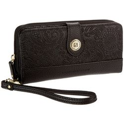 Stone Mountain Paisley Embossed Leather Wallet