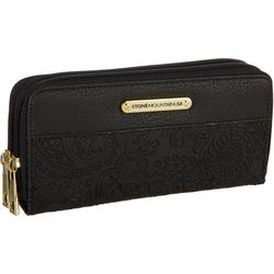 Boxed Solid Embossed Paisley Wallet