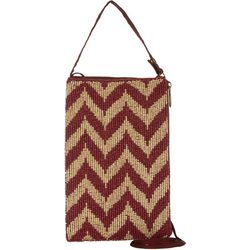 Bamboo Trading Co. College Chevron Crossbody Handbag