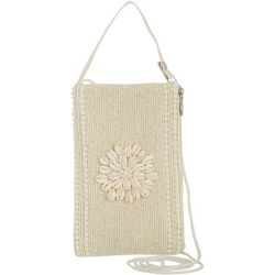 Bamboo Trading Co. Shells & Beaded Crossbody Handbag