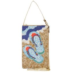 Bamboo Trading Co. Flip Flop Beaded Crossbody Handbag